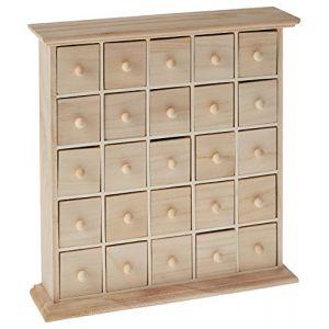 Artémio Meuble 25 tiroirs en bois 30 x 8 x 30 cm