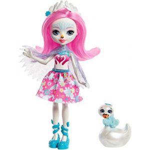 Mattel Enchantimals - Mini poupée et Animal - Saffi Swan