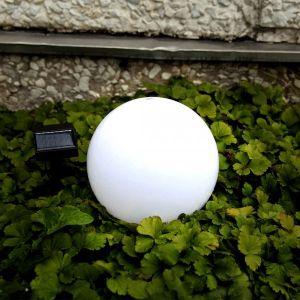 Globe solaire 20cm blanc - STAR