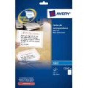 Avery-Zweckform 75 cartes de correspondance (99 x 210 mm).