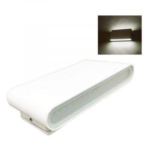 Silamp Applique LED Murale 2x 8W IP44 Double Faisceau BLANC - Blanc Neutre 4000K - 5500K