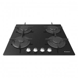 Candy CVG64SGNX - Table de cuisson gaz 4 foyers