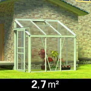 Image de Casasmart Serre de jardin en aluminium 185 × 140 × 195 cm