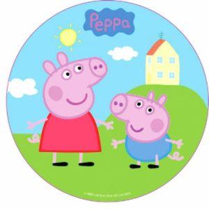 Disque en sucre Peppa Pig 16 cm