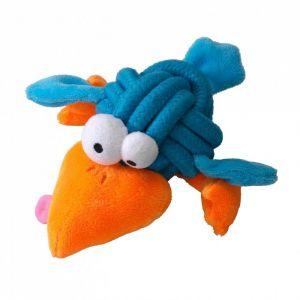 Ebi Jouet chien noeud-peluche Coockoo Bobble - 8cm - Bleu - M