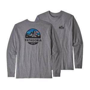 Patagonia L/S Fitz Roy Scope Responsibili Tee - Manches longues taille M, gris