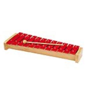 Goki Xylophone à 12 lames en métal rouge