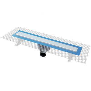 First Plast Pratiko2 - Caniveau de douche italienne avec grille Piana (600 x 60 mm)