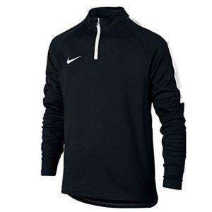 Nike Dry Academy Sweatshirt Mixte Enfant, Noir/Blanc/Blanc, FR : M (Taille Fabricant : M)