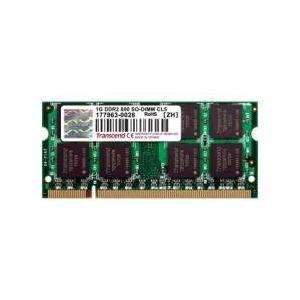 Transcend JM800QSU-1G - Barrette mémoire JetRAM 1 Go DDR2 800 MHz 200 broches