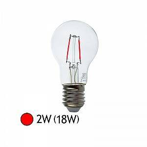 Vision-El Ampoule LED FIL COB BULB E27 2W ROUGE