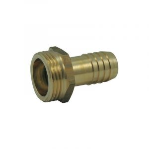 Ezfitt Raccord male fileté - cannelé male en laiton - Ø 1 pouce 1/4 x 30mm