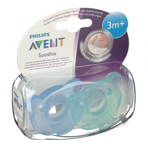 Bomedys Avent Sucette Soothie Silicone +3 mois 2 pc(s) 8710103742821