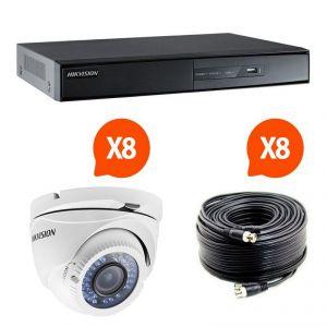 Hik vision HIK-8DOM-THD - Kit vidéosurveillance Turbo HD avec 8 caméras dôme N°1