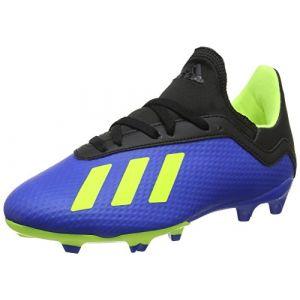 Adidas X 18.3 FG J, Chaussures de Football Mixte Adulte, Bleu (Fooblu/Amasol / Negbás 000), 38 2/3 EU