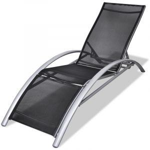 VidaXL Chaise longue en aluminium