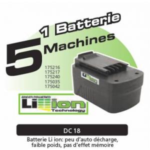 Far Tools Batterie Lithium-Ion 18 V - 175814