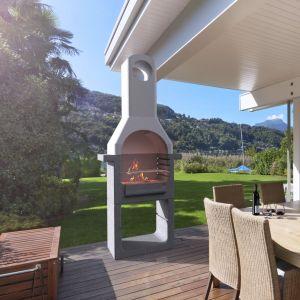 VidaXL Support de barbecue au charbon de bois Béton avec cheminée
