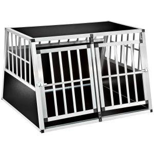 TecTake Caisse de transport pour chien double confortable en aluminium