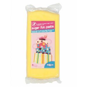 Dekora Pâte à sucre sans gluten jaune 250 g