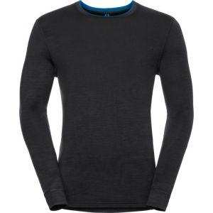 Odlo T shirt manches longues natural 100 merino noir m
