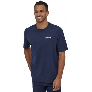 Patagonia T shirt manches courtes p 6 logo responsibili tee bleu homme s