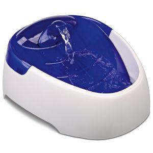 Trixie Distributeur automatique d'eau duo stream - 1 L, blanc/bleu clair