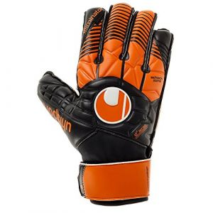 Uhlsport Elm Gants de Gardien de But Mixte Adulte, Multicolore (Noir/Orange/Blanc), Taille 7