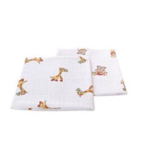 Sunnybaby 2 couches en coton à angles en mousseline imprimés 70x70cm
