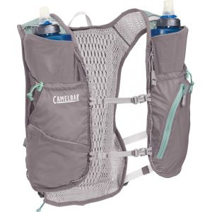 Camelbak Gilet dhydratation Zephyr 10l With 2 Quick Stow Flask - Silver / Blue Haze - Taille One Size