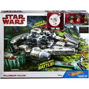 Mattel Hot-Wheels Star Wars Piste Millenium Falcon
