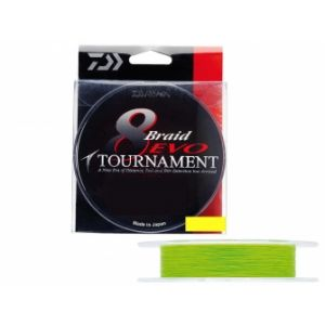 Daiwa TRESSE TOURNAMENT 8 BRAID EVO CHARTREUSE - 135M 12/100