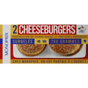 Monoprix Cheeseburgers spécial micro-ondes, à réchauffer surgelés