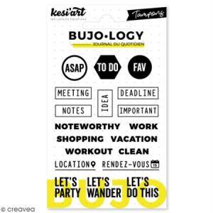 Kesi'art Tampon transparent pour bullet journal - Bujo Logy - Notes - 19 pcs
