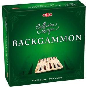 Tactic Backgammon en bois (collection classique)