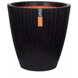 Capi Pot à fleurs Urban Tube Conique 40 x 40 cm Noir KBLT801