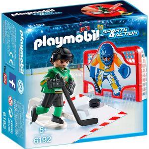 Playmobil 6192 Sports & Action - Joueurs de hockey avec cage d'entraînement