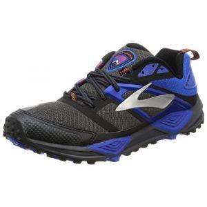 Brooks Cascadia 12, Chaussures de Gymnastique Homme, Gris (Anthracite/Electric Blue/Black), 43 EU