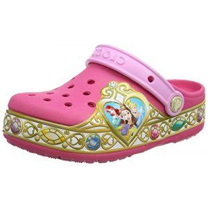 Crocs Crocband Disney Princess Lights Clog Kids, Fille Sabots, Rose (Vibrant Pink), 34-35 EU