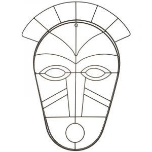 Atmosphera Décoration murale Masque Africain en métal filaire