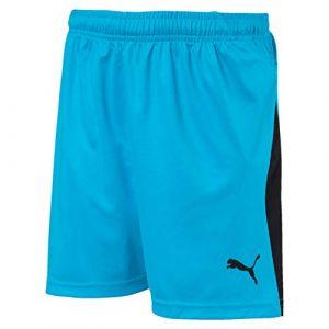Puma Short de foot LIGA pour enfant, Bleu/Noir, Taille 164