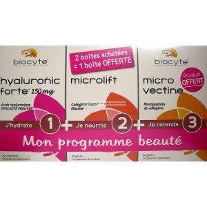 Biocyte Pack Beauté : Hyaluronic Forte 200 mg, Elastine Forte et Tenseur Forte