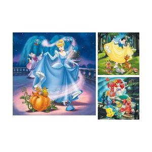 Ravensburger Blanche-neige, Ariel et Cendrillon - Puzzles 3 x 49 pièces