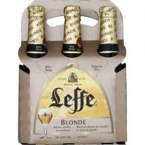 Leffe Bière blonde d'abbaye belge - Les 6 bouteilles de 33cl