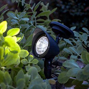 Lights4Fun Lot de 3 x Lampes Spots Solaires à LED Blanches pour Jardin de
