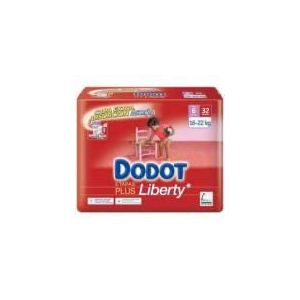 Dodot Couche Liberty taille 6 (16-22 kg) - paquet de 32