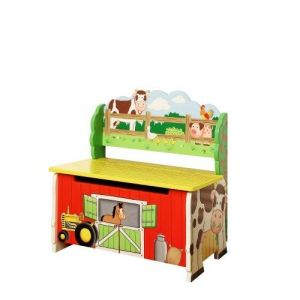Teamson TD-11325A - Banc de rangement Happy Farm