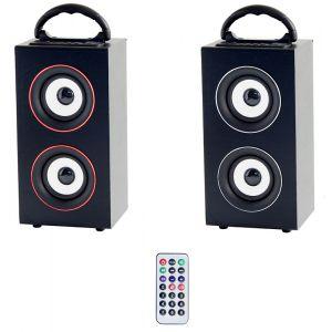 Be MIX B-Blast - Enceinte bluetooth et filaire FM USB/Micro SD (télécommande incluse)