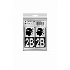 Cadox 2 Stickers En 3d Département Haute-corse 2b