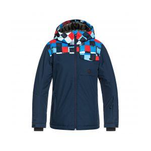 Quiksilver Veste enfant Mission Block Youth Jacket bleu - Taille 12 ans,14 ans,16 ans